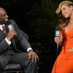 Beyonce Show Stopping Dress At Super Bowl Media Junket