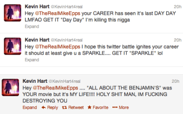 Kevin Hart Tweets Mike Epps