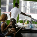 Ray J , Tierra Marie and Gabe Solis Spotted at the Grey Goose #CherryNoirOpenBarPatio in Buckhead GA, GA