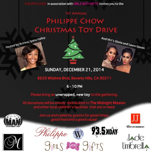 Philippe Chow Toy Drive