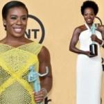 Viola Davis, Uzo Aduba Make SAG History with Leading Female Role Wins!