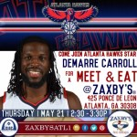 Atlanta Hawks DeMarre Carroll Hosts Meet & Eat at Zaxby's for Atlanta Fans