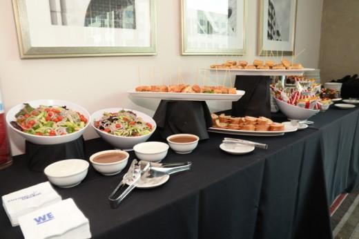 food set up