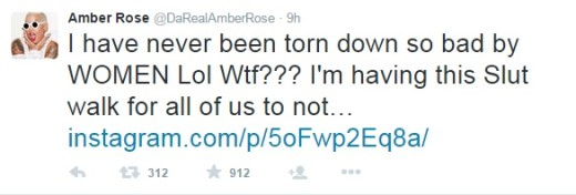 Amber Rose Slut Walk Tweet