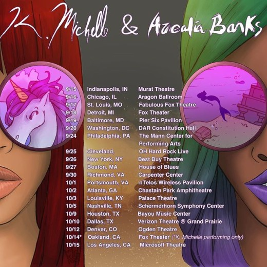 K Michelle Azealia Banks Tour