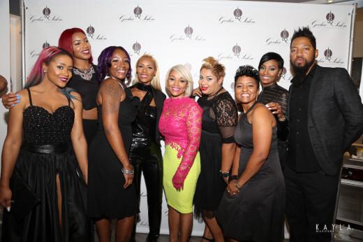 Gocha with salon staff and stylists
