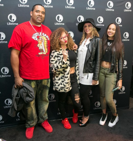 Shayne Pitts, Miss Mulatto, Misti Pitts and guest 1.1.16 THE RAP GAME Viewing Party011 SUITE_ATL_GA   135thST_C.Mitchell  2015CAM18902