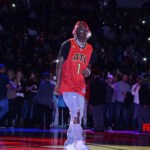 Lil Yachty performs during the half time at Hawks vs Wizards Game !