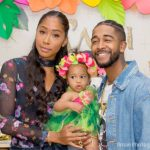 [Photos] Apryl Jones And Omarion On Their Co-Parenting Duties For Daughter A'mei's First Birthday Bash
