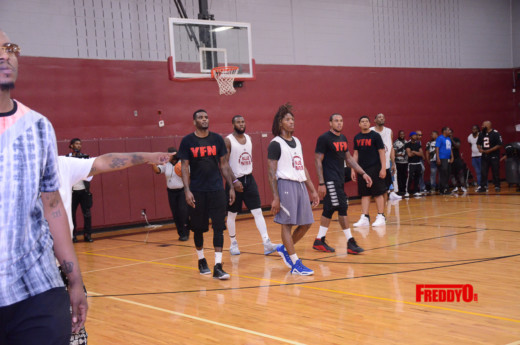 PHOTOS YFN LUCCI VS BMG CELEBRITY BASKETBALL GAME HELD AT