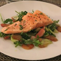 Ocean trout poached in extra virgin olive oil