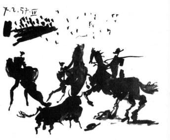 Tauromachie, Picasso