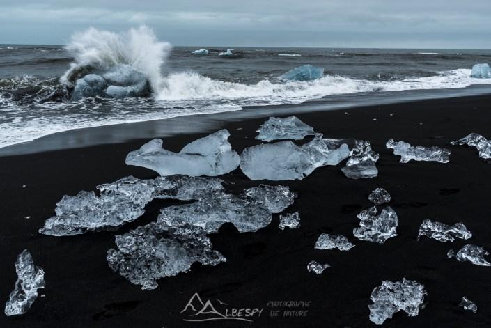 Iceberg à la mer (Jökulsárlón) n°0826