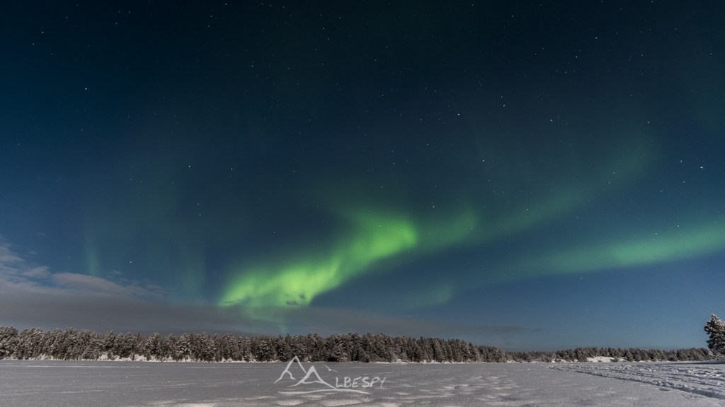 Aurore et pleine lune (Idivuoma - Suède) n°0914