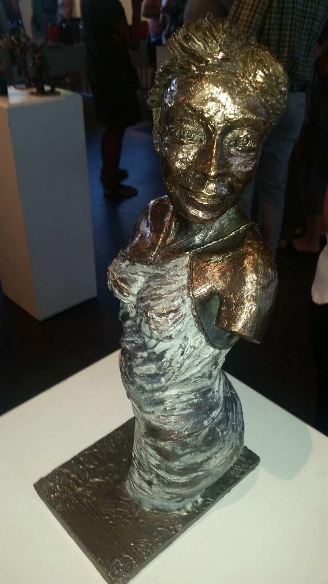 Skulptur af Søren Dujo (Foto: Claes Andersen, Fredericia AVISEN)