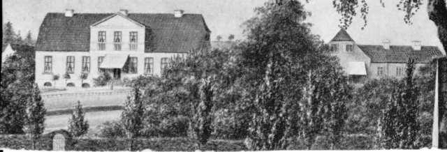 Gammelt foto af Bella Vista set fra Kammerherrens Gang (nu Sjællandsgade) (Foto: Lokalhistorisk Arkiv)