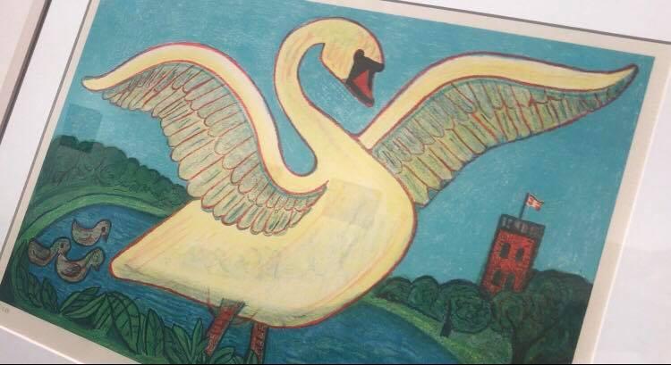 Lindved Skole besøgte Henry Heerup udstilling hos Fredericia Kunstforening
