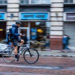 Cykel med mobil