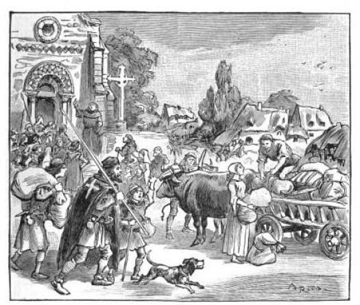 Le départ pour la première croisade. Ernest Lavisse (Armand Colin)