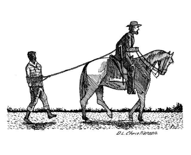 Image result for drawing of slave being pulled behind horses