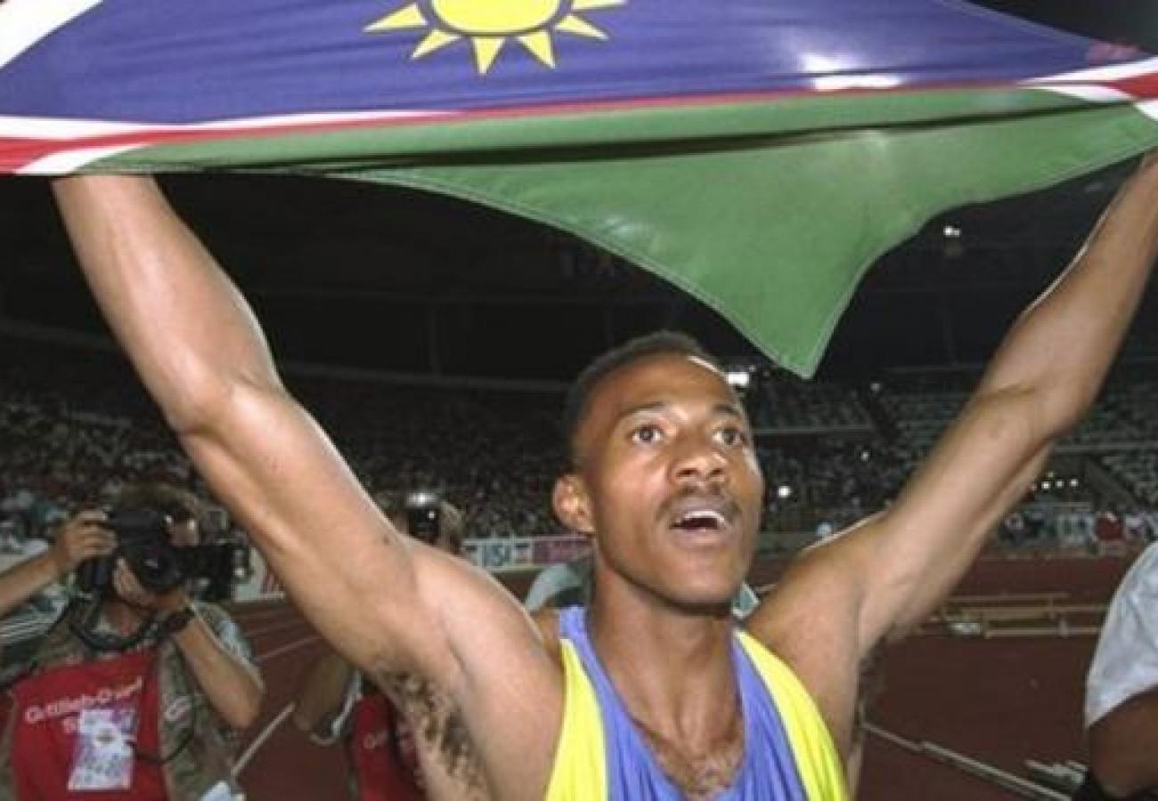 FF Winning 5_Frank Namibian flag
