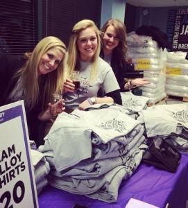 T-Shirt Sales at Mallory's Fundraiser