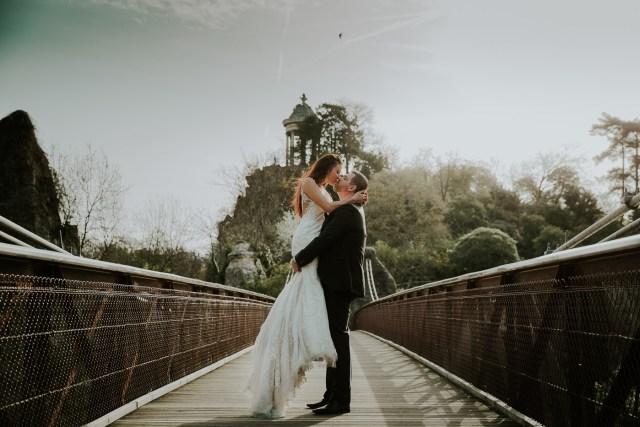 couple de maries passerelle ile du belvedere oiseau frederico santos meilleur photographe