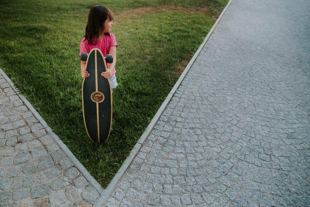 portrait enfant skateboard
