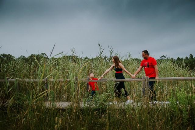 balade famille seance photo autour lac lagoa de Pataias