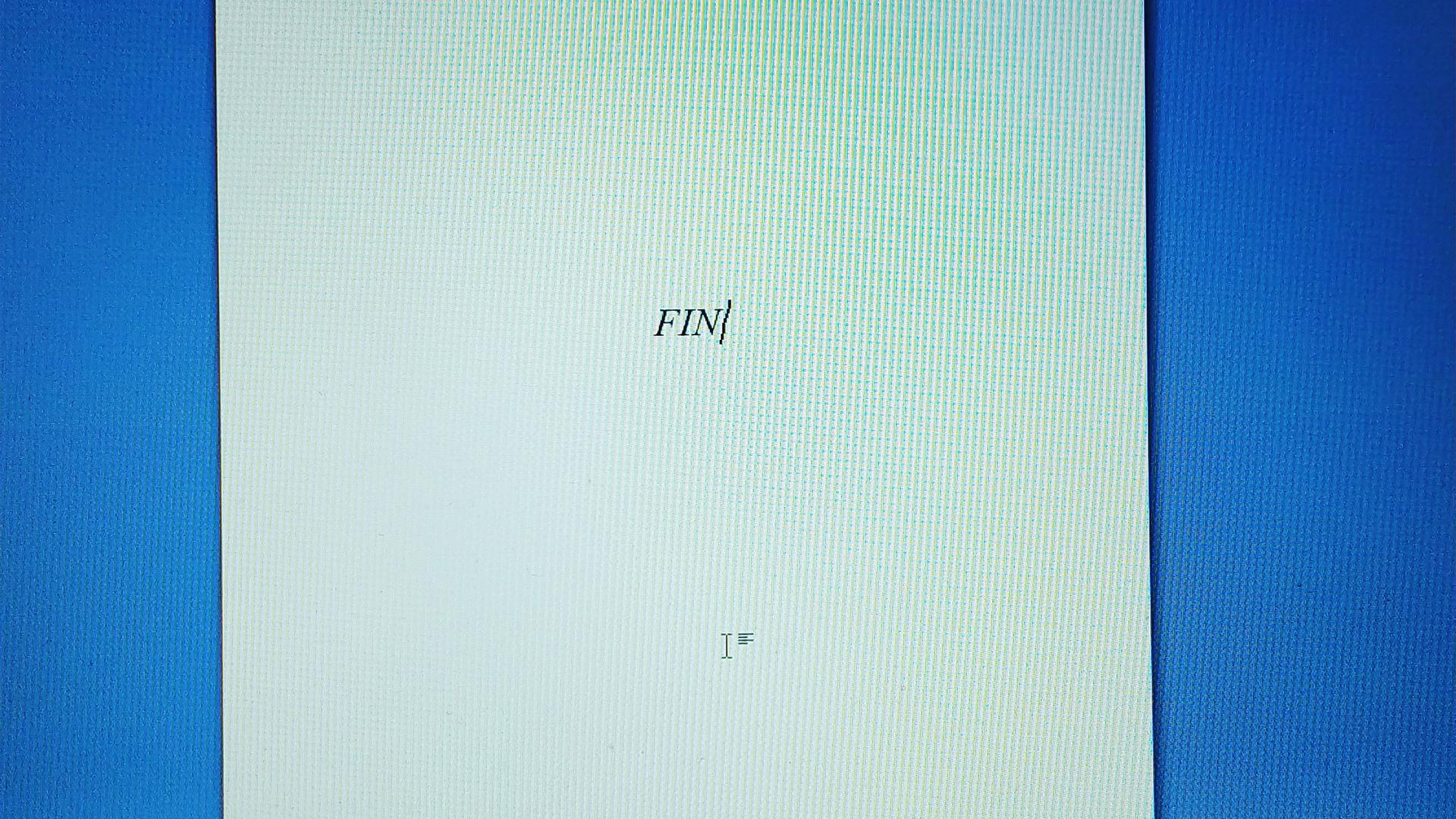 Mon 4ème roman s'achève aujourd'hui !