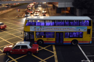 Double-decker and left-hand buses, a remnant of British colonization