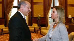 President Erdogan meets EU's Federica Mogherini