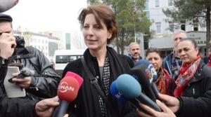 I'm talking to the press after my trial, in front of Diyarbakir court house, 8 April 2015.