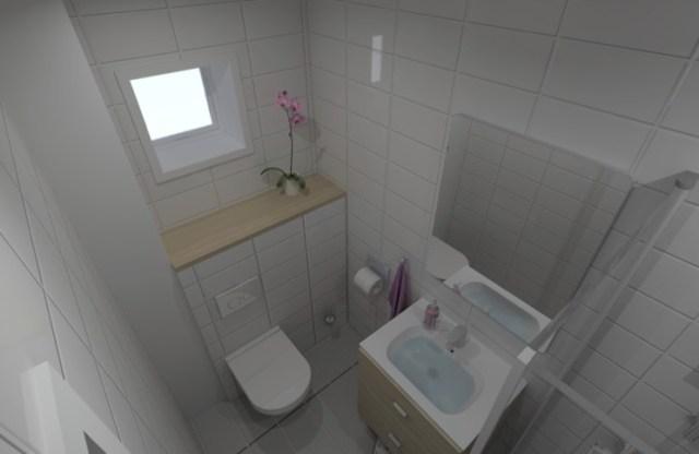 Gæstebad forslag i 3D