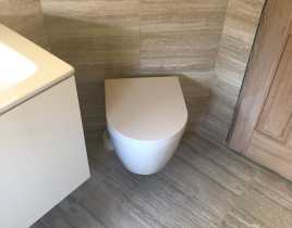 Det nye gæstetoilet/bad