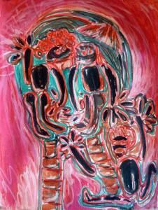 Rencontre avec la mort, acrylique, Blaize