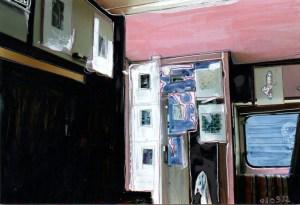 caravane, dessin, encre, photo, Blaize