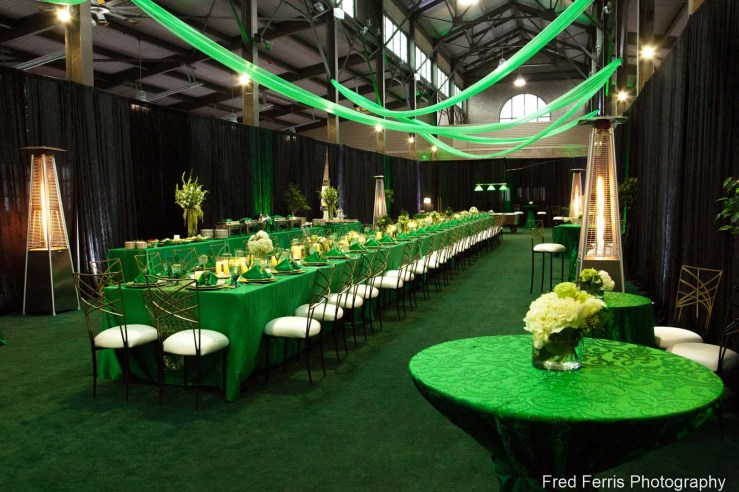 This is an event photograph that shows Fred Ferris Photography knows how to combine different lighting sources. Professional lighting combined with room light give a dramatic look to this conference setting which was held by Strategic Staffing Solutions in Shed 5, Detroit Eastern Market.
