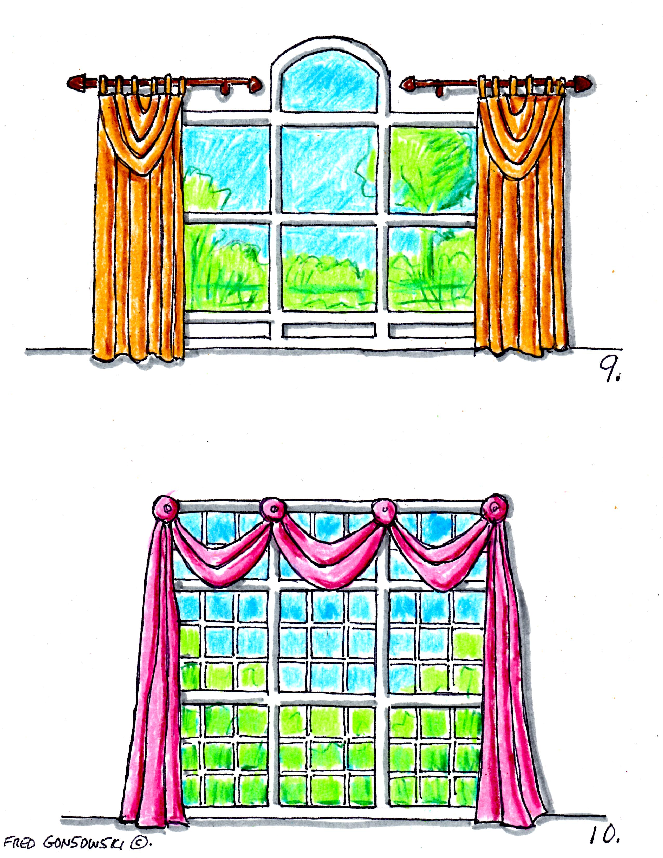 Hanging Valances Curtains And D S On Different Kinds