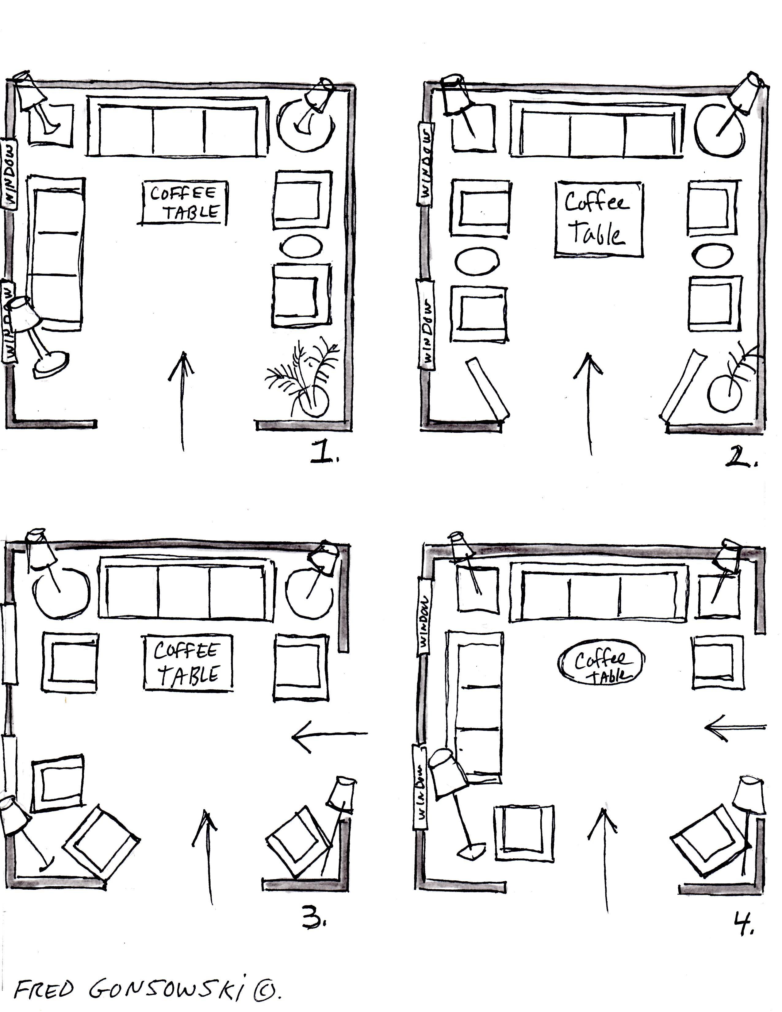 It S Easy To Arrange Furniture In A Square Living Room Some