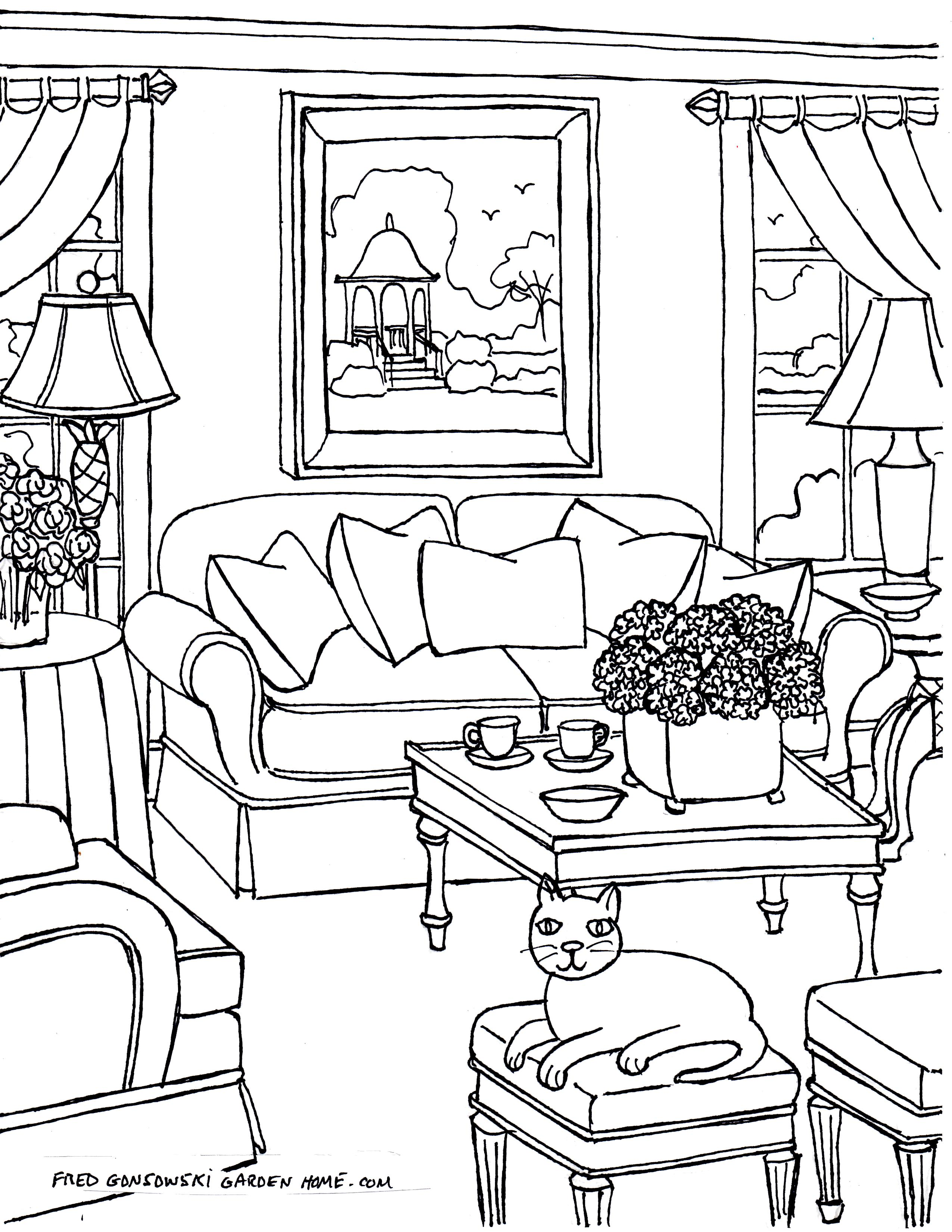 Free Bedroom Coloring Pages