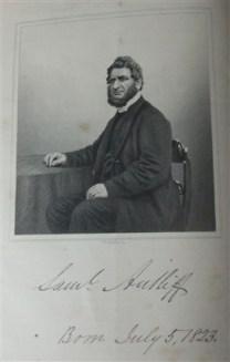 Samuel Antliff (1823-1892 ) Earl Shilton Minister 1847