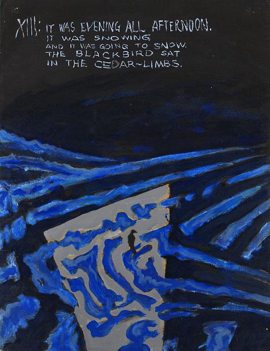 Blackbird XIII, 1982, by Fred Hatt
