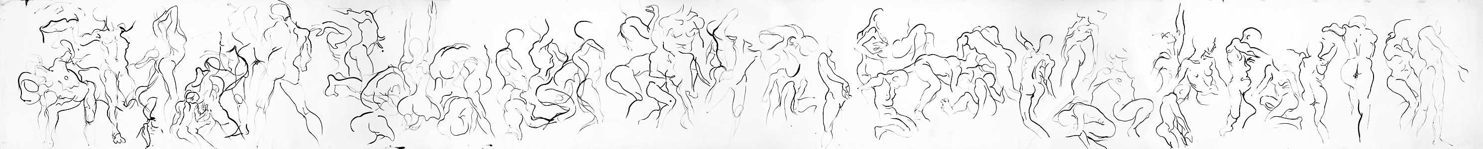 Lauren scroll, 2000, 91 cm x 884 cm, by Fred Hatt