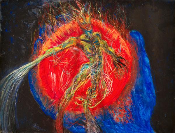 Deity, 1989, painting by Fred Hatt
