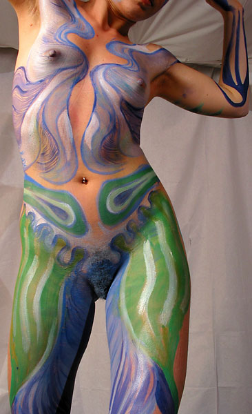 Dragonfly, 2002, bodypaint and photo by Fred Hatt