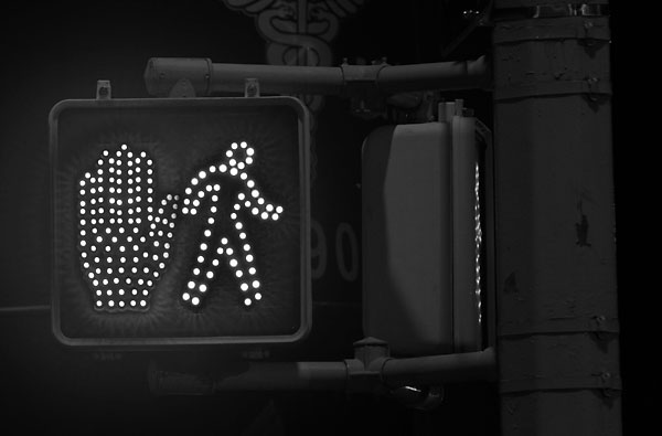 Moonwalk & Sequined Glove, 2009, b&w version, photo by Fred Hatt