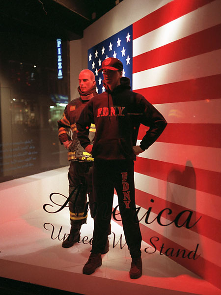 Macy's Window, December, 2001, photo by Fred Hatt