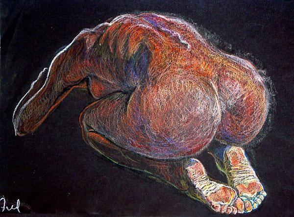 Balasana, 1996, by Fred Hatt