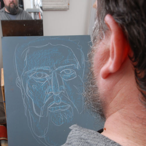Self, 2009, by Fred Hatt, in progress at 4:30